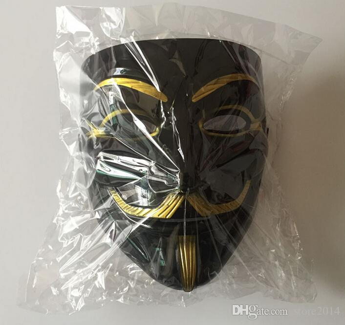 Novo V para Vingança Máscaras de Festa de Halloween Anonymous Fancy Dress Fantasia Cosplay Trajes de Carnaval Fontes Do Partido