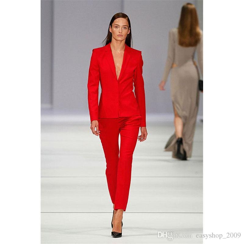 3414d9e93facf New light sky blue womens business suits double breasted ladies elegant pant  suits slim fit female office uniform womens tuxedo