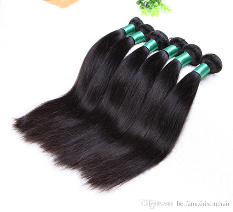 Grade 5A-Top Grade!!!! 100% Human Brazilian Hair Extensions Silk straight Double Weft Full Cuticle 50g/pc&