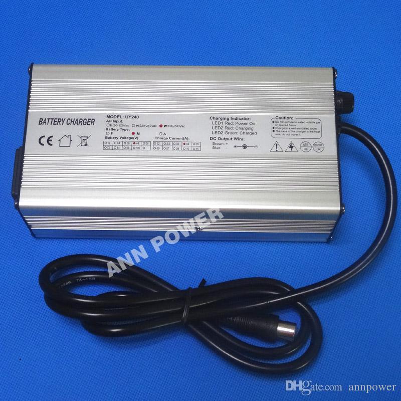 48V 4A E-Bike Lithium battery charger Output 54.6V 4Amp 13S 48V 10Ah 20Ah 30Ah Lipo/LiMnO4 battery charger Aluminum housing CE&RohS