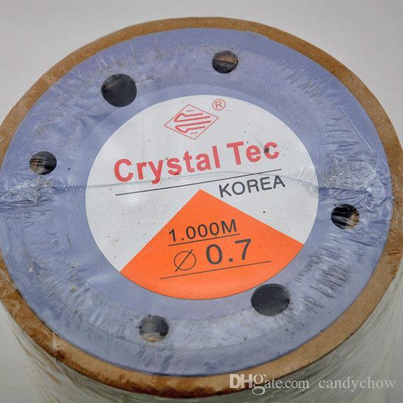 0.7mm --3200 pies 1000 metros - Cordón elástico de cristal de Corea para pulsera de bricolaje, collar, cable de cuerda elástica, cordón elástico de cristal