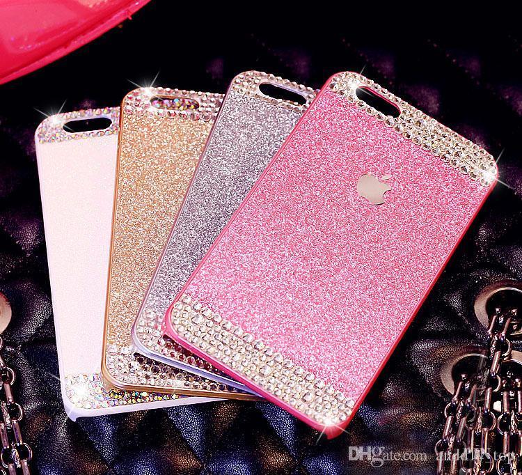 Luxury Bling Glitter Diamond Rhinestone Hard Plastic PC Back Phone Cover For Samsung Galaxy S5 S6 Edge A3 A5 A7 Note 3 4 5 Grand Prime G530