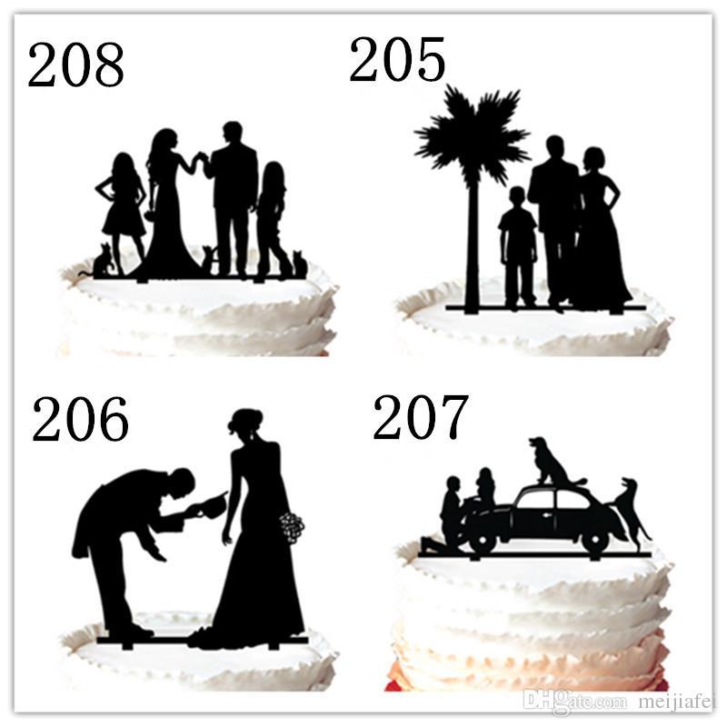 невеста и невеста того же пола, Lesbien свадебный торт Топпер украшения партии, 37 цвет для опции Бесплатная доставка