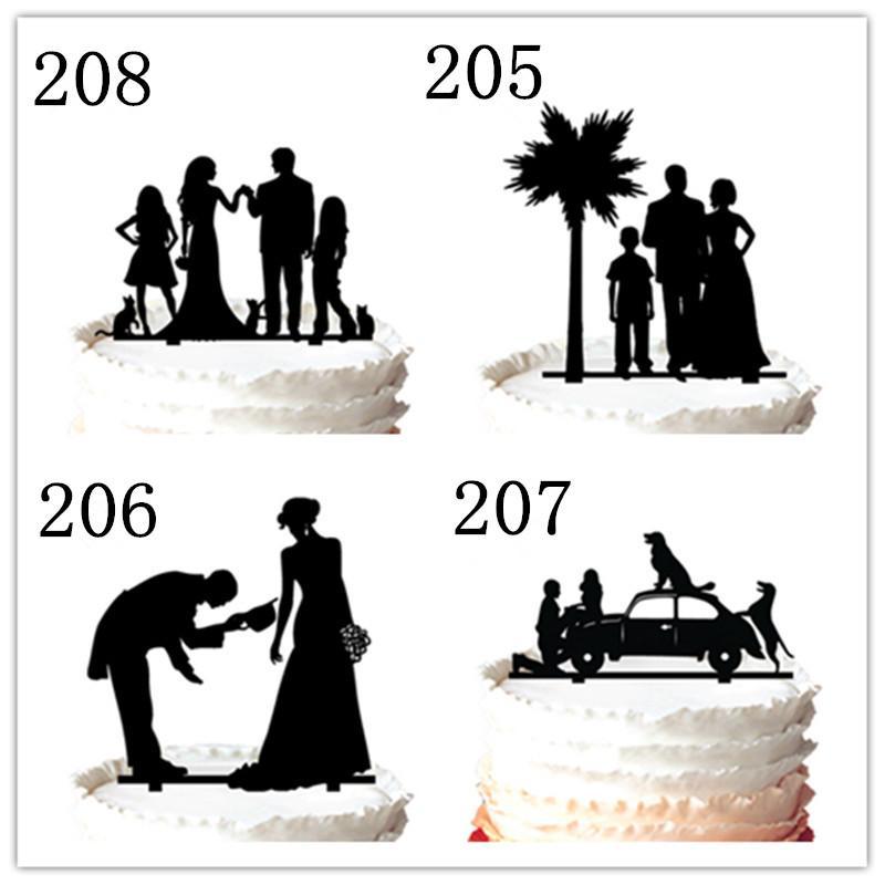 Mr & Mrs Anchor Wedding Cake Topper Silhouette Vintage Bride Birthday,for option
