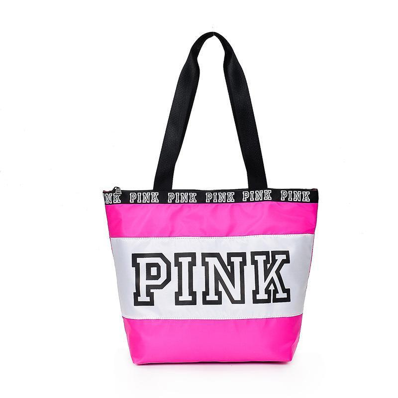 ff7141278e5b3 Bolsos de diseño Bolsa de hombro Marca PINK Impresión Bolsas de viaje Bolso  femenino Moda Bolsos de Crossbody Bolsos a prueba de agua de color rosa  Compras