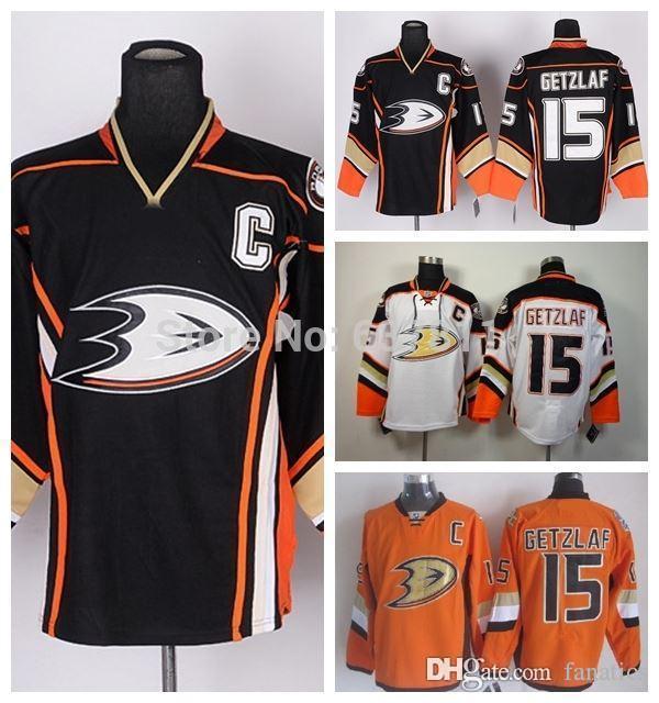 Weitere Wintersportarten Eishockey NHL ANAHEIM DUCKS Ryan Getzlaf Nr 15 Eishockey Name Number T-Shirt black C