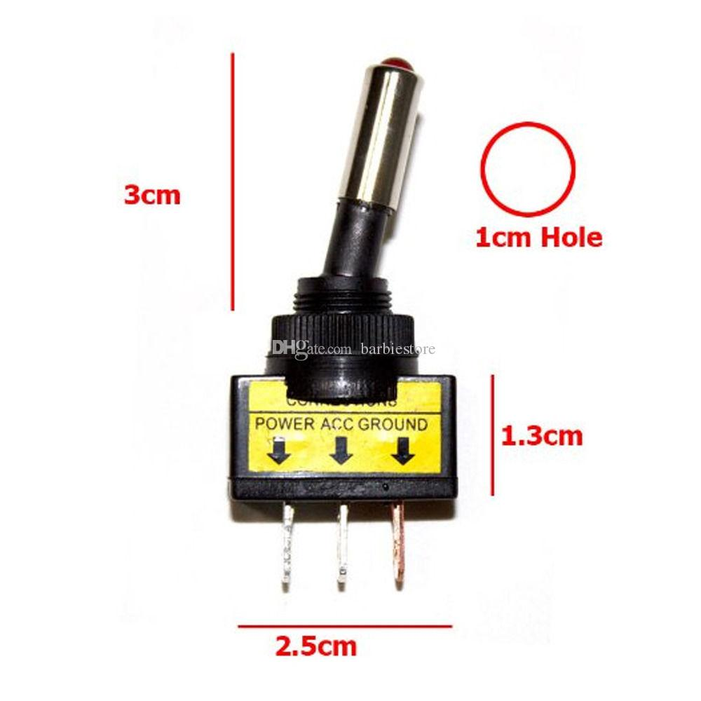 10xDC 12V 20A Car Auto LED Light Toggle Rocker Switch 3Pin SPST ON/OFF B00458