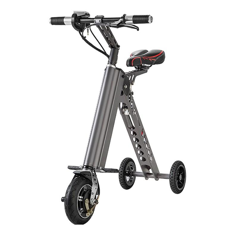 2019 2017 3 Wheels Mini Foldable Electric Bicycle Hoverboard 7 2ah Alloy Folding Bike E Scooter Easy From Fitness Equipment