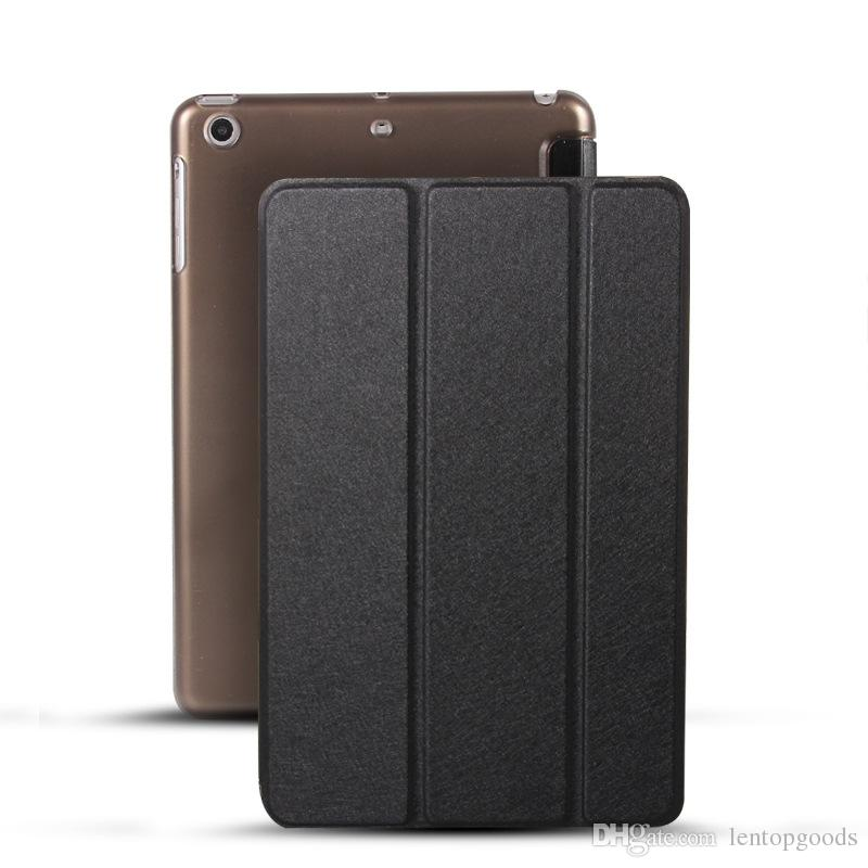 Color PU Leather Ultra Slim Transparent Back Tri-fold Smart Cover Case for iPad Pro 10.5 inches