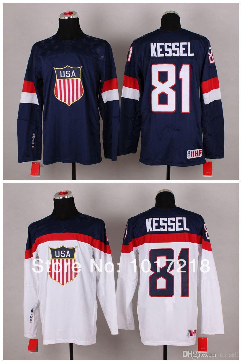 Online Cheap Free Shiping/ 81 Phil Kessel Usa Jersey Sochi Winter ...