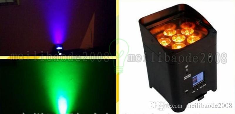 YENI Şarj yol durumda ILE DHL Kargo DJ Özgürlük par HEX6 Kablosuz DMX Led par yıkama ışık RGBWYP 6 IN 1 MYY
