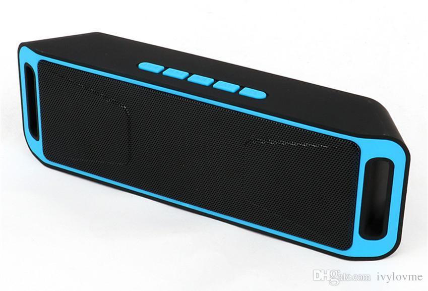 Новый SC-208 мини Портативный Bluetooth колонки беспроводной смарт громкой связи динамик большой мощности сабвуфер поддержка TF и USB FM-радио