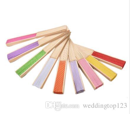 New Arrive Fans Bamboo Folding Hand Dancing Wedding Party Decor Flower Hand Held Fan