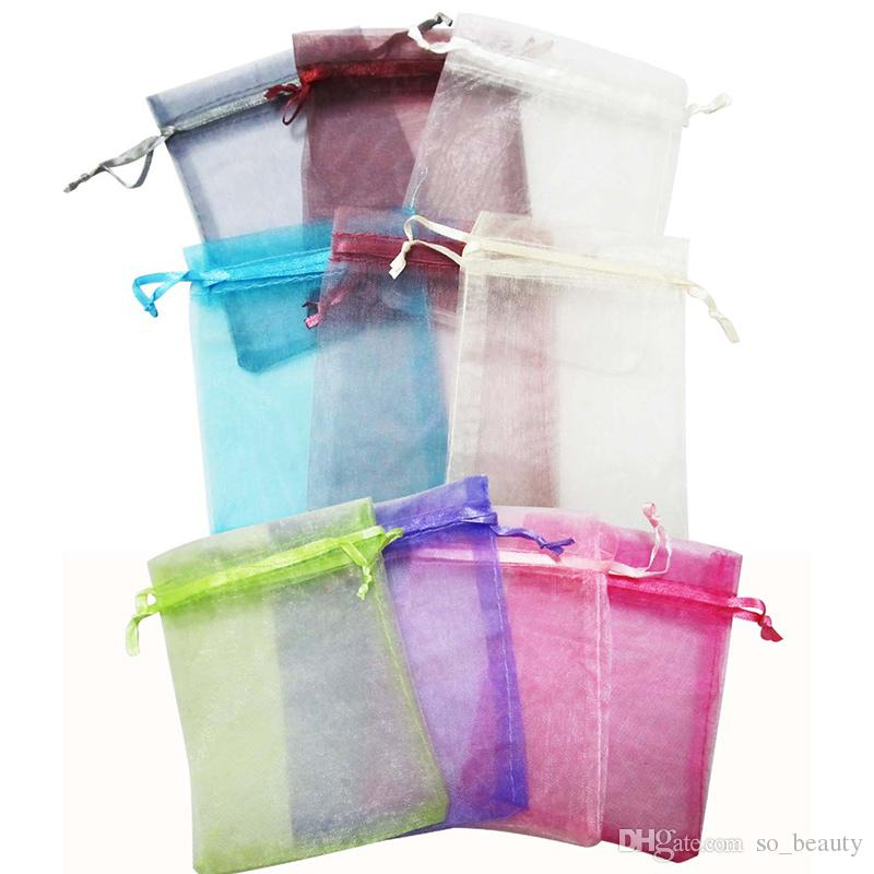 Organza Packing Bags Jewellery Pouches Wedding Favors Christmas Party Gift Bag 9 x 12 cm  3.6 x 4.7 inch