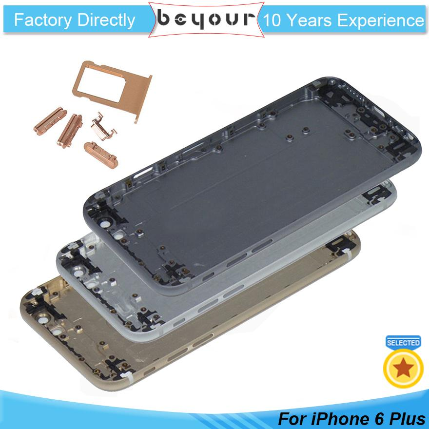 best sneakers 3008f e6fb3 OEM For iPhone 6 Plus 6plus Full Metal Housing Battery Door Back Cover  Middle Frame Assembly Replacement Parts Back Panel