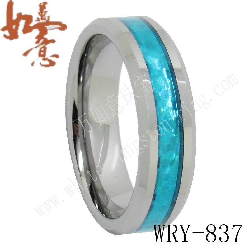 Tungsten Wedding Rings.Topaz Inlay Tungsten Wedding Bands Rings Jewelry For Men Wry 837 8mm Width