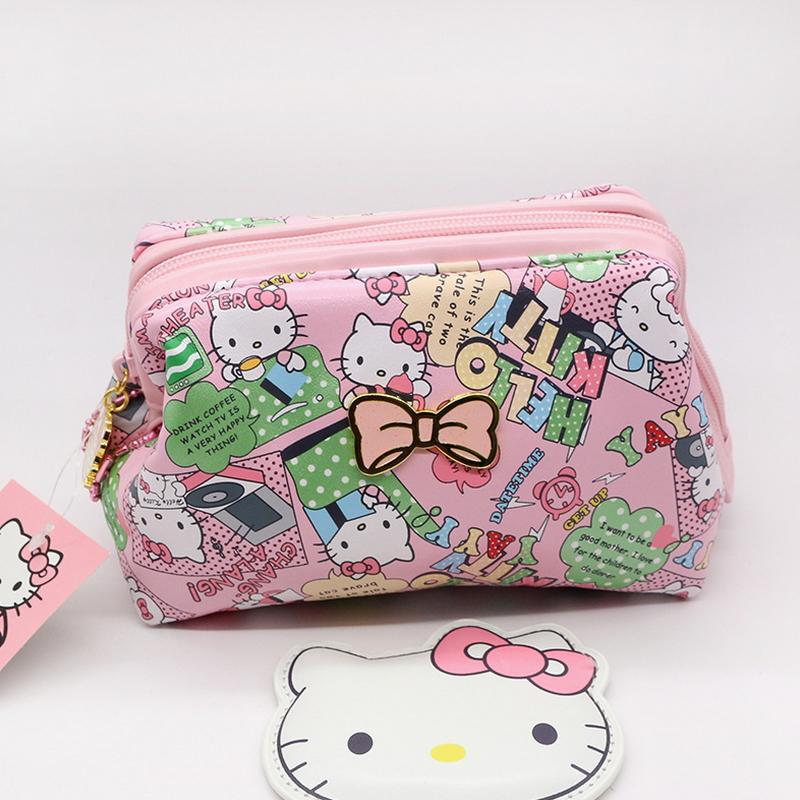 740d54dc7d Cartoon Make Up Bags Hello Kitty Zipper Cosmetic Bags High Quality ...