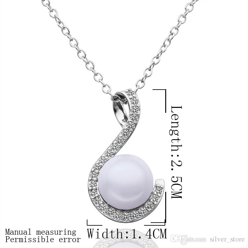Hot sale brand new 24k 18k white gold pearl pendant Necklaces jewelry GN555 fashion gemstone shell necklace christmas gift