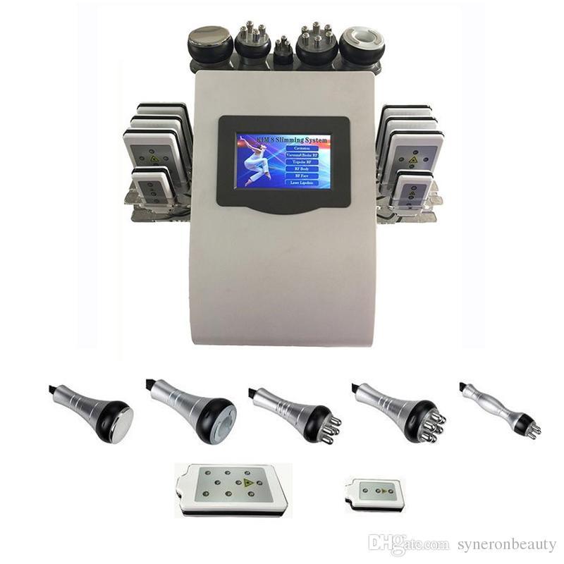 Machine mince ultrasonique de laser de lipo de cavitation Lipo de vide professionnel de corps de fréquence radio de salon de beauté pour la perte de poids