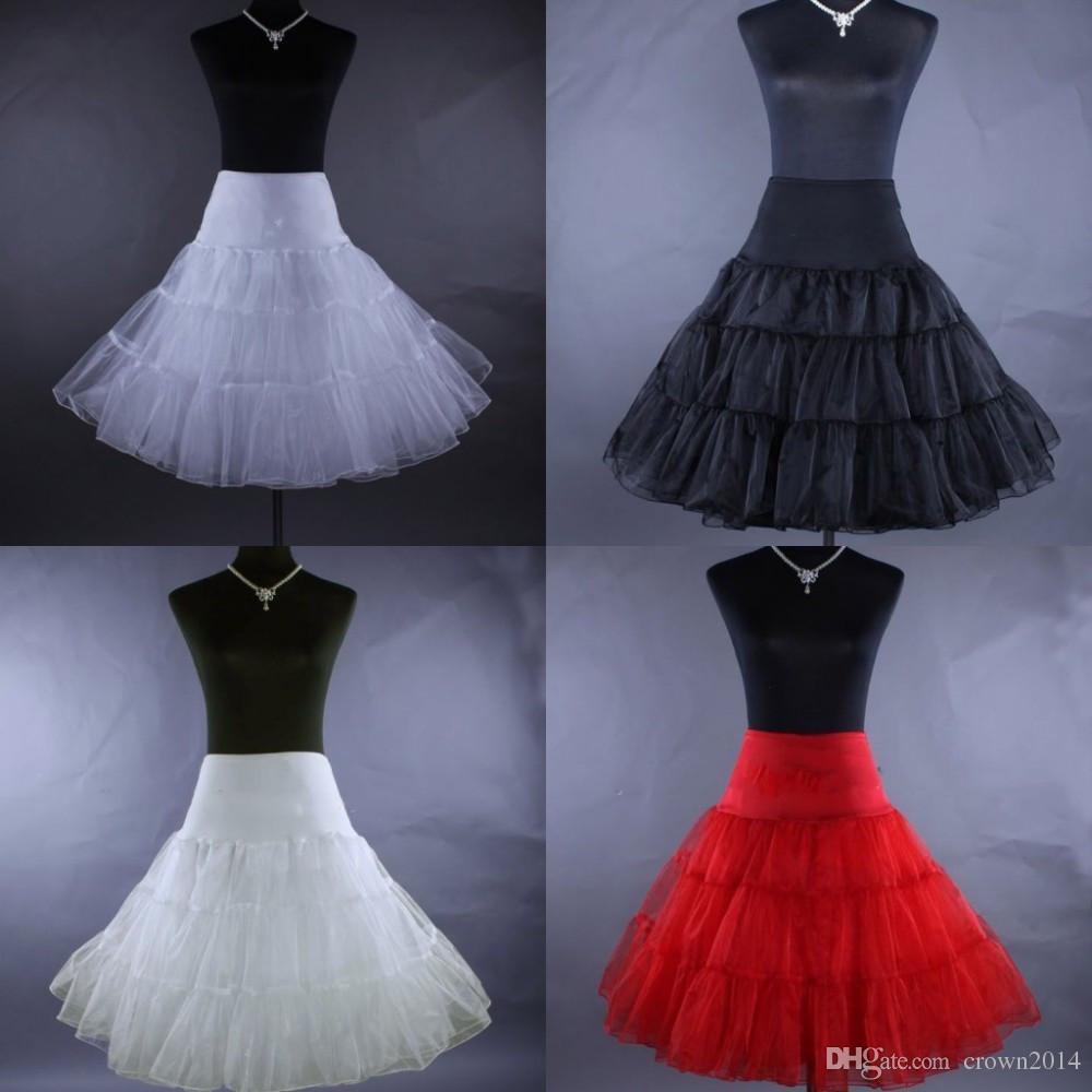 A-line Crinoline Etek Tutu Kabarık Artı Boyutu Düğün Petticoats Organze Ucuz 2021 Sıcak Kısa Gelin Reklam Kılıç Kadın Gelin Aksesuarları