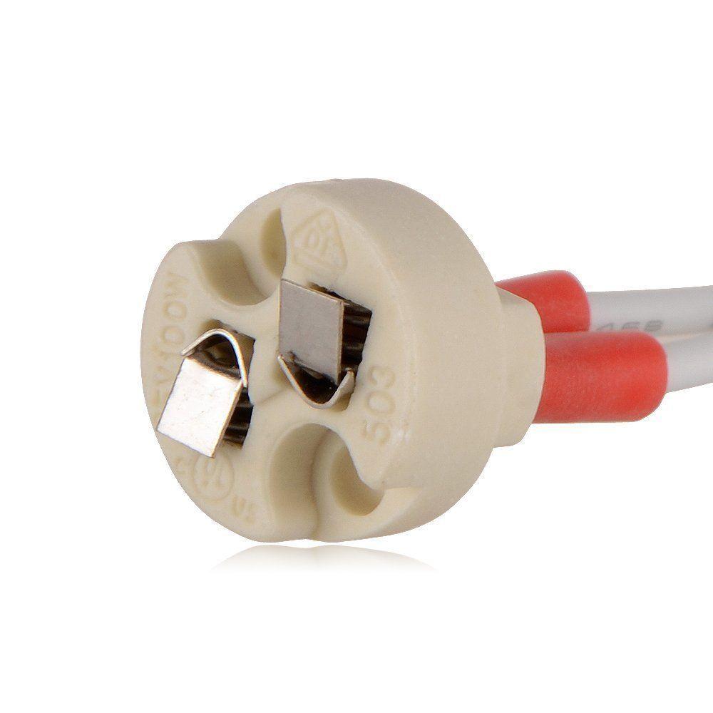 MR16 MR11 soquete da lâmpada LED Bulb Titular base de cerâmica cabo principal fio conector