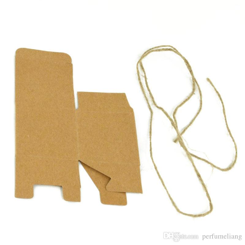 Retro Mini Kraft Paper With Rope Jute Box DIY Wedding Gift Favor Boxes Birthday Baby Shower Favors Party Candy Box ZA0970