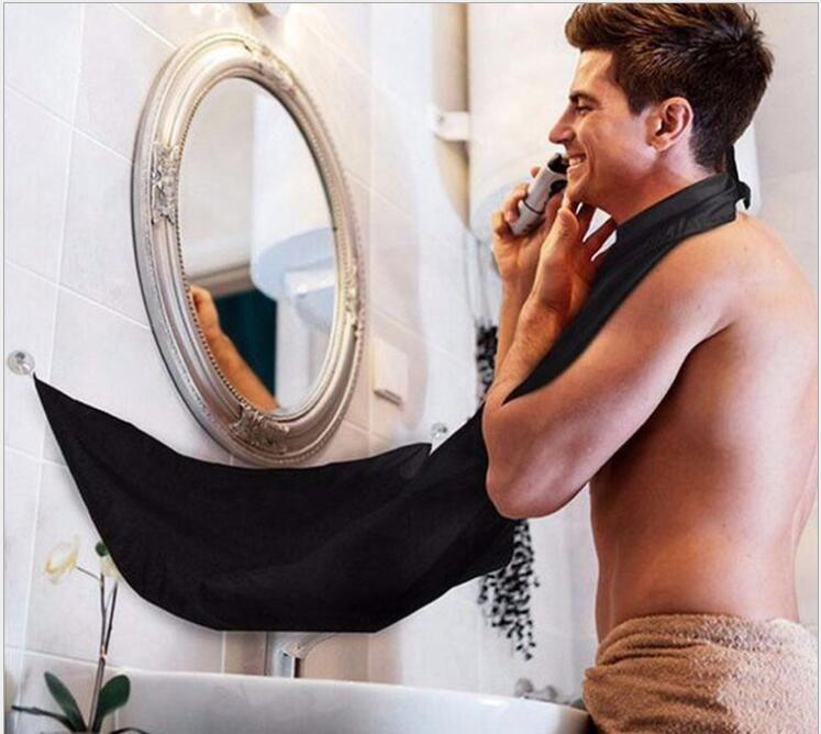 Tıraş Bez Sakal Bıyık Önlüğü Erkekler Yüz Saç Süslemeleri Catcher Tıraş Önlük Burun Bez