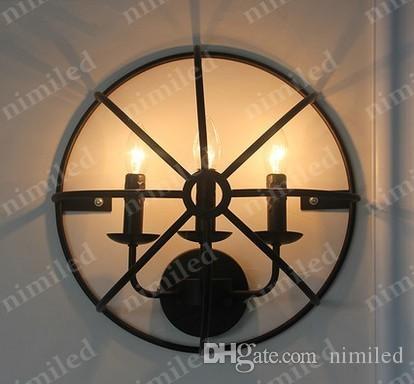 nimi813 3Dia 40cm merican 레트로 빈티지 향수 단철 벽 램프 LOFT 산업 스타일 식당 조명 조명