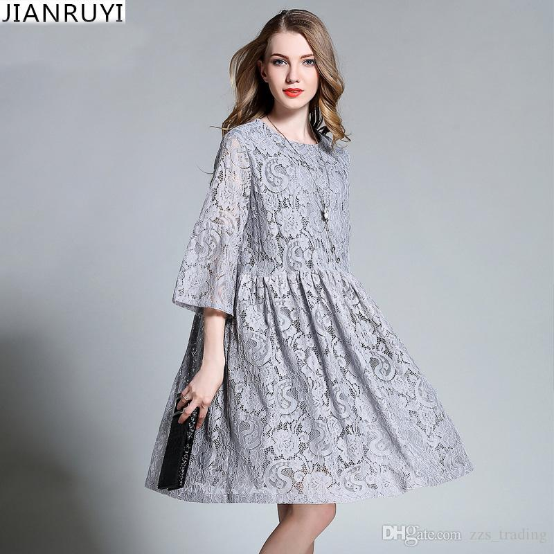 2017 Designer Spring Summer Women Floral Lace Dresses Plus Size 4XL Hollow  Lace Pregnant Women s Pleated Long Dress Black Red Soft Comfortable Warm  Online ... cdb94b99286c