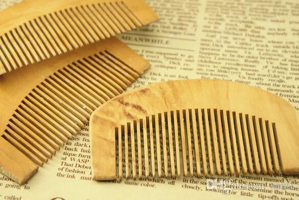 Pettine di legno naturale Beard Hair Brush Pocket Pocket Wood Pettini capelli Massaggio capelli Hard Styling Styling Tool
