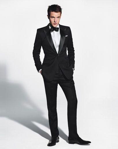 Recién llegado un botón esmoquin novio negro Padrinos de boda solapa mejor hombre boda trajes de fiesta de graduación chaqueta + pantalones + pajarita K26