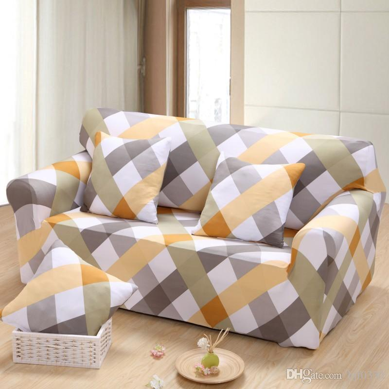 Geometric Patterns Printed Sofa Cover Tight All Inclusive Slipcover Stretch  Fabric Single/Two/Three/Four Seat Elastic Sofa Cover Cushion Couch Recliner  ...