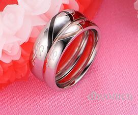 커플 패션 쥬얼리 새로운 스타일의 도매 티타늄 스테인레스 스틸 반지 좋은 품질 DHL 무료 배송