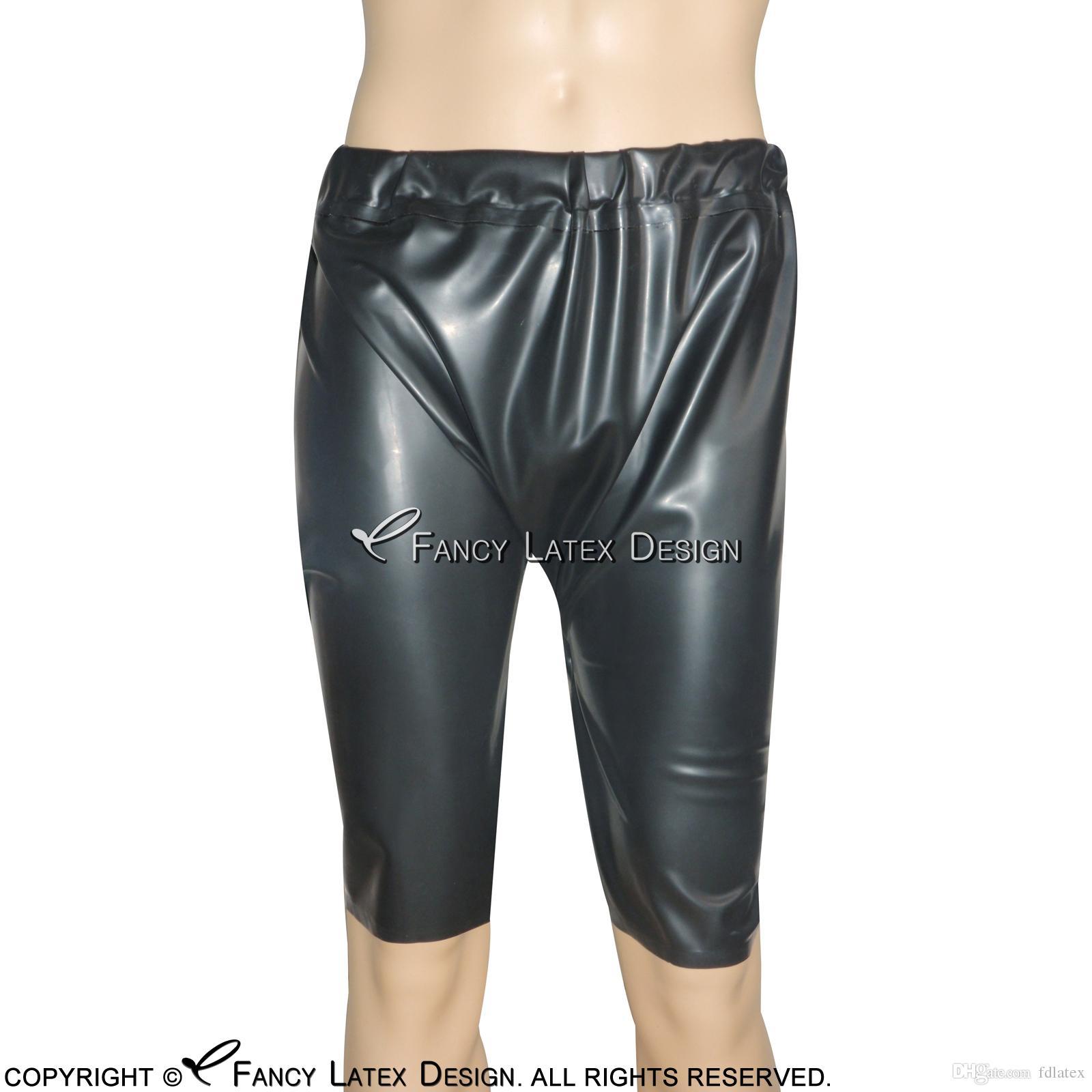 latex panties Black