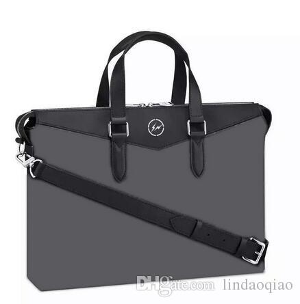 2018 New Famous Brand Men Bag EXPLORER Mens Document Bag cowhide real genuine leather mens shoulder bag business briefcase EXPLORER M40566