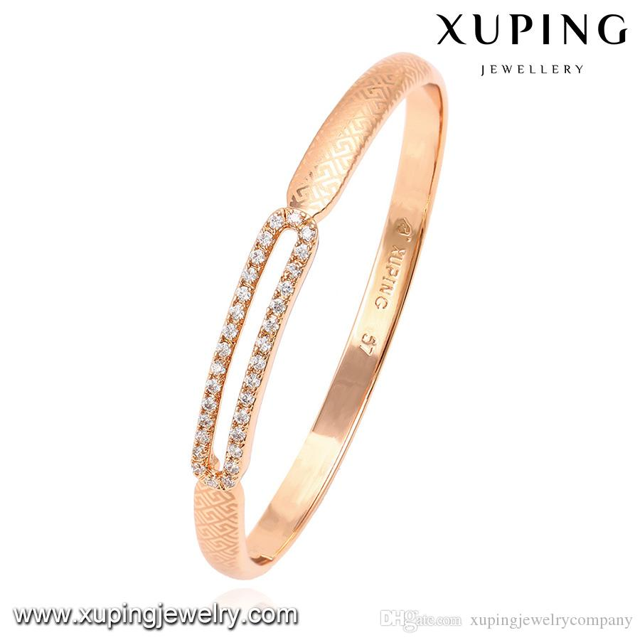 Rose Gold Color Copper Jewelry Bangle For Women Design Of Labyrinth