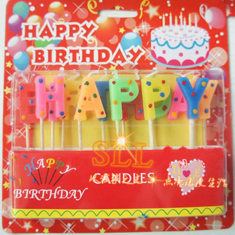 2019 Wholesale Amazing Colorful Glitter Happy Birthday Candles New Design 2016 Timelive Letters Cake Party Decorations Kids Gift From Merryseason