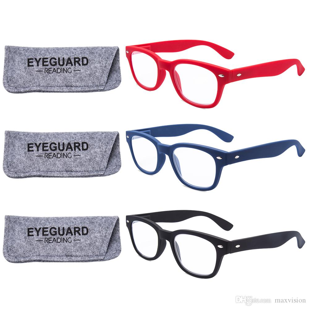reading glasses rectangle unisex readers spring hinges plastic pack 100 150 200 250 300 350 white reading glasses wide frame reading glasses - Wide Frame Reading Glasses
