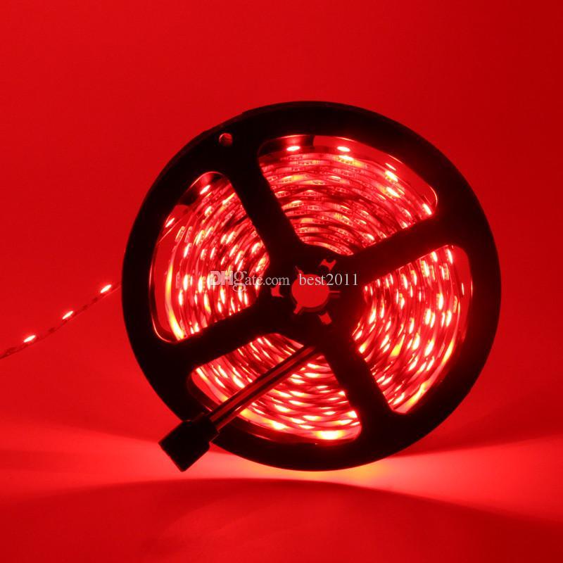 5 metros 300Leds RGB Led luz de tira 5050 SMD 60Leds / M No-impermeable DC 12V Iluminación interior