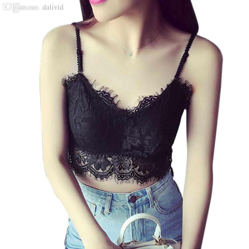 3c0699a131e7a Wholesale-Hot New Sexy Women Lace Bra Bustier Crop Top Bralette ...