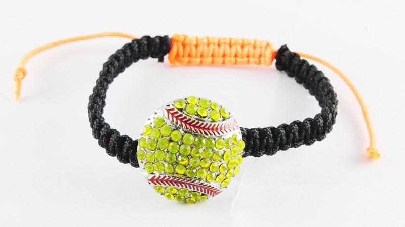 2018softballsunny mode sport softball baseball football basketball baseball softball bracelet agité