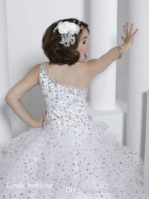 Cute Girl's Pageant Dress Princess Ball Gown Party Cupcake Young Pretty Little Kids Queen Flower Girl Dress