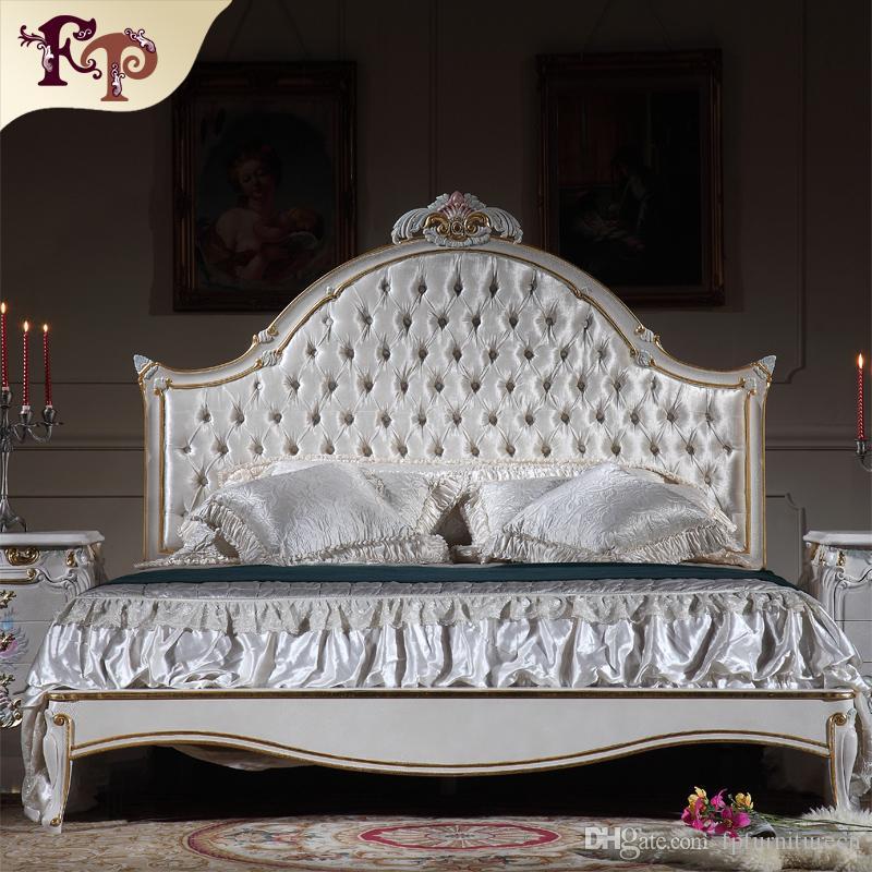 Compre Muebles De Dormitorio Antiguos De Lujo Cama Rococó Francesa ...