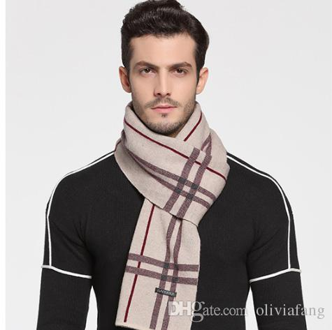 5a504850491 LUXURY 100% Pure Wool Cashmere Scarves Male For Winter SEXY CHARMING  CLASSIC ELEGANT Plaid Scarf 180x30cm Thick Muffler Winter BEST GIFT FOR  Headscarves ...