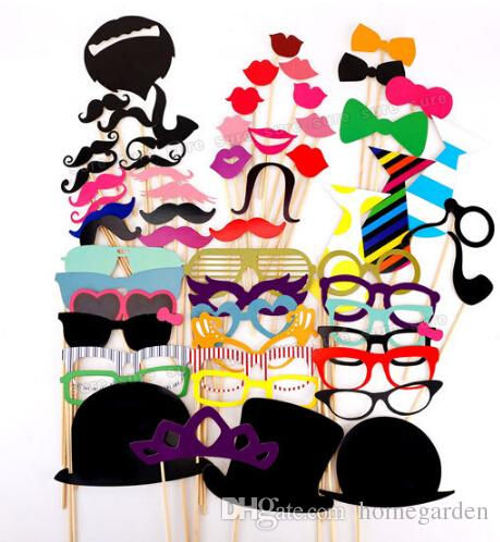 Wholesale-Funny Mask Mustache Stick for Photo Booth Prop Wedding Birthday Party New