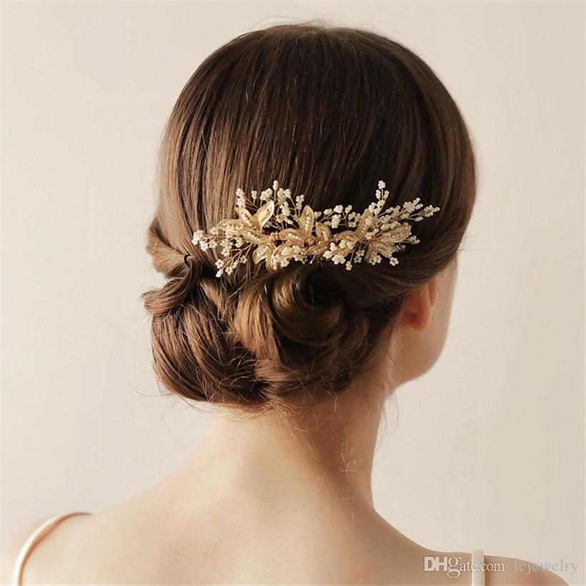 Retro Alloy Insert Comb Bridal Crystal Comb, Beauty Hair Accessories for Women Girls Wedding Jewelry - Crystal