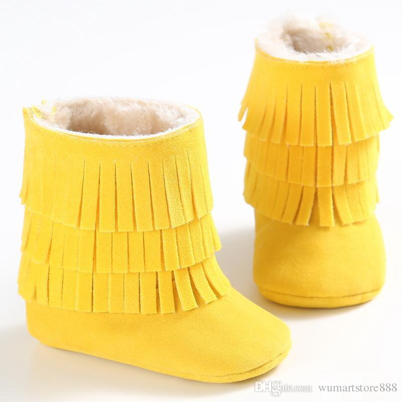 Multy Color Baby moccasins soft sole first walker shoes baby leather newborn shoes Tassels maccasions boot /bootie