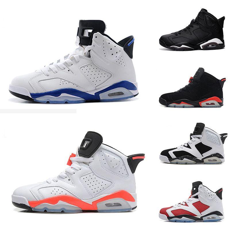 06d38b42950a74 2018 6 Carmine Basketball Shoes 6s UNC Black Blue White Infrared Low Chrome  Women Men Sport Blue Red Oreo Alternate Oreo Black Cat Basketball Mens Shoes  ...