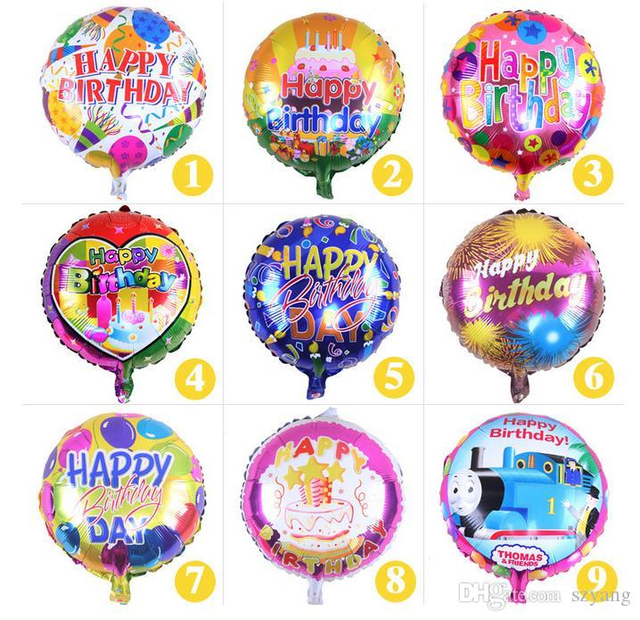 Wholesales 18 Inch Helium Foil Balloon Happy Birthday Kids Party Decoration Mixed Style Supplies For