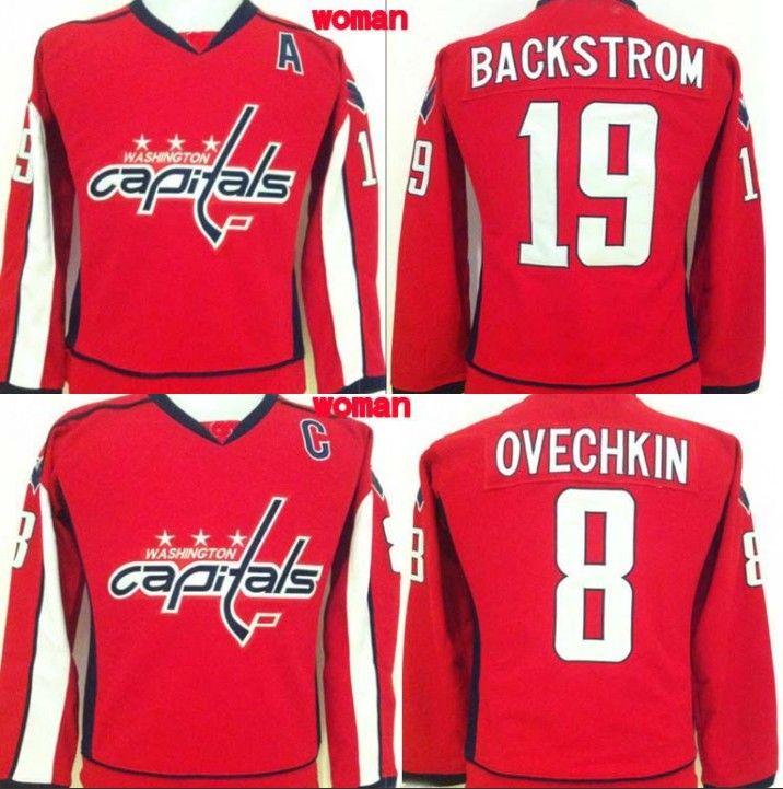 Washington Capitals Hockey Jerseys Women  19 Nicklas Backstrom  8 Alex  Ovechkin Hockey Jersey High Quality All Stitched UK 2019 From Felixtrading 7af0b70807